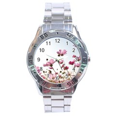 Flowers Plants Korea Nature Stainless Steel Analogue Watch