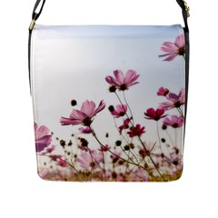 Flowers Plants Korea Nature Flap Messenger Bag (l)