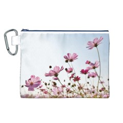Flowers Plants Korea Nature Canvas Cosmetic Bag (L)