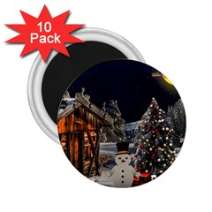 Christmas Landscape 2 25  Magnets (10 Pack)