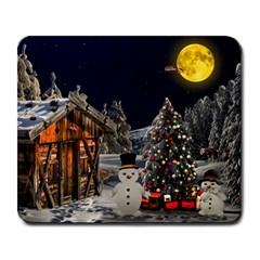 Christmas Landscape Large Mousepads