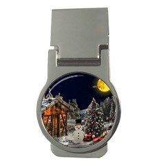 Christmas Landscape Money Clips (Round)