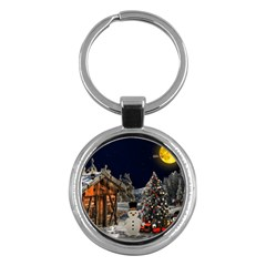 Christmas Landscape Key Chains (round)