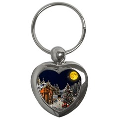 Christmas Landscape Key Chains (heart)