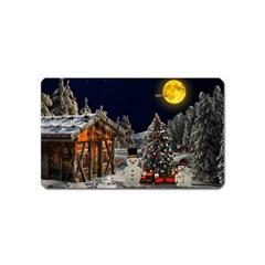 Christmas Landscape Magnet (Name Card)