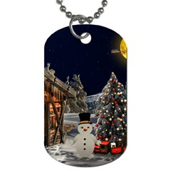 Christmas Landscape Dog Tag (One Side)