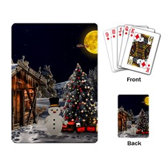 Christmas Landscape Playing Card