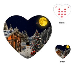 Christmas Landscape Playing Cards (heart)