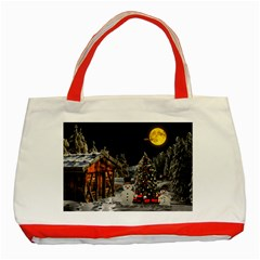 Christmas Landscape Classic Tote Bag (red)