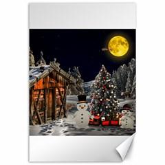 Christmas Landscape Canvas 24  x 36