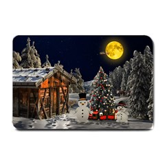 Christmas Landscape Small Doormat