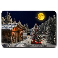 Christmas Landscape Large Doormat