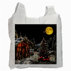 Christmas Landscape Recycle Bag (two Side)