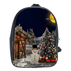 Christmas Landscape School Bags(large)