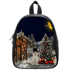Christmas Landscape School Bags (small)