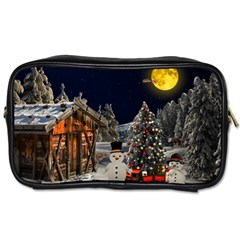 Christmas Landscape Toiletries Bags