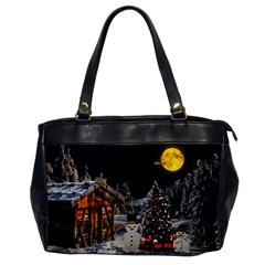 Christmas Landscape Office Handbags