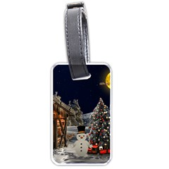 Christmas Landscape Luggage Tags (two Sides)