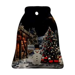 Christmas Landscape Bell Ornament (2 Sides)
