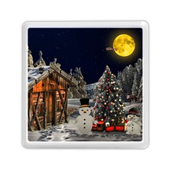 Christmas Landscape Memory Card Reader (square)