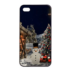 Christmas Landscape Apple Iphone 4/4s Seamless Case (black)