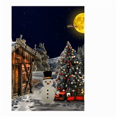 Christmas Landscape Small Garden Flag (two Sides)