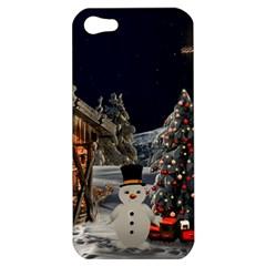 Christmas Landscape Apple Iphone 5 Hardshell Case