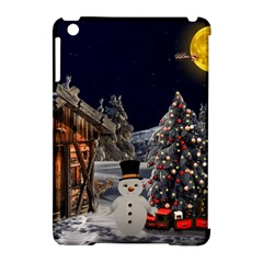 Christmas Landscape Apple Ipad Mini Hardshell Case (compatible With Smart Cover)