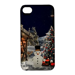 Christmas Landscape Apple Iphone 4/4s Hardshell Case With Stand