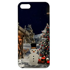 Christmas Landscape Apple Iphone 5 Hardshell Case With Stand