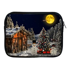 Christmas Landscape Apple Ipad 2/3/4 Zipper Cases