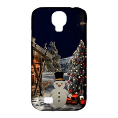 Christmas Landscape Samsung Galaxy S4 Classic Hardshell Case (pc+silicone)