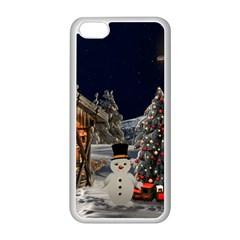 Christmas Landscape Apple Iphone 5c Seamless Case (white)
