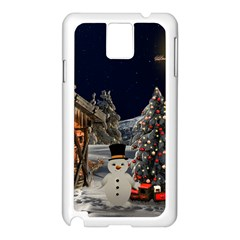 Christmas Landscape Samsung Galaxy Note 3 N9005 Case (white)