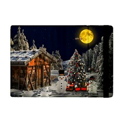 Christmas Landscape Ipad Mini 2 Flip Cases