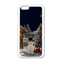Christmas Landscape Apple Iphone 6/6s White Enamel Case