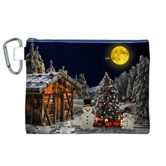 Christmas Landscape Canvas Cosmetic Bag (xl)