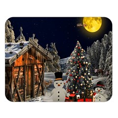 Christmas Landscape Double Sided Flano Blanket (large)