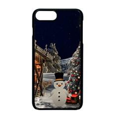 Christmas Landscape Apple Iphone 7 Plus Seamless Case (black)