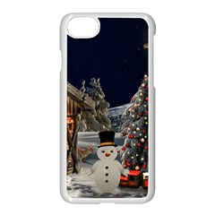 Christmas Landscape Apple Iphone 7 Seamless Case (white)