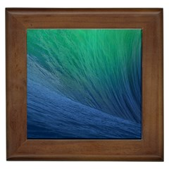 Sea Wave Water Blue Framed Tiles