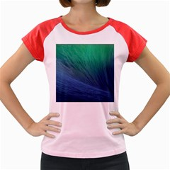 Sea Wave Water Blue Women s Cap Sleeve T Shirt