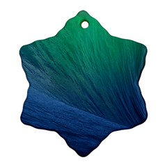 Sea Wave Water Blue Snowflake Ornament (2 Side)