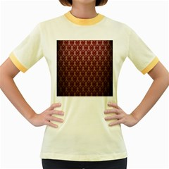 Red Vintage Women s Fitted Ringer T Shirts