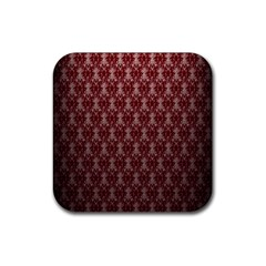 Red Vintage Rubber Coaster (square)