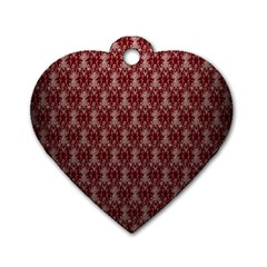Red Vintage Dog Tag Heart (two Sides)