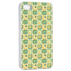 Square Green Yellow Apple Iphone 4/4s Seamless Case (white)