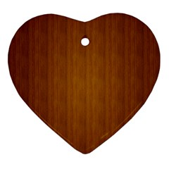 Simple Wood Widescreen Ornament (heart)
