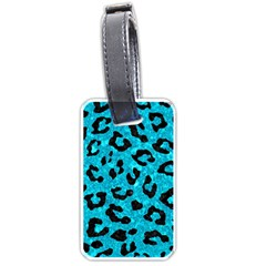 Skin5 Black Marble & Turquoise Marble Luggage Tag (one Side)