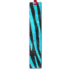 Skin4 Black Marble & Turquoise Marble (r) Large Book Mark